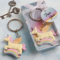 Delightful Unicorn Design Key Ring